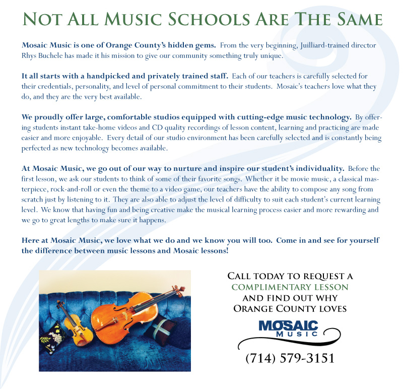 Mosaic Music Private Lessons Music Lessons Private Instruction